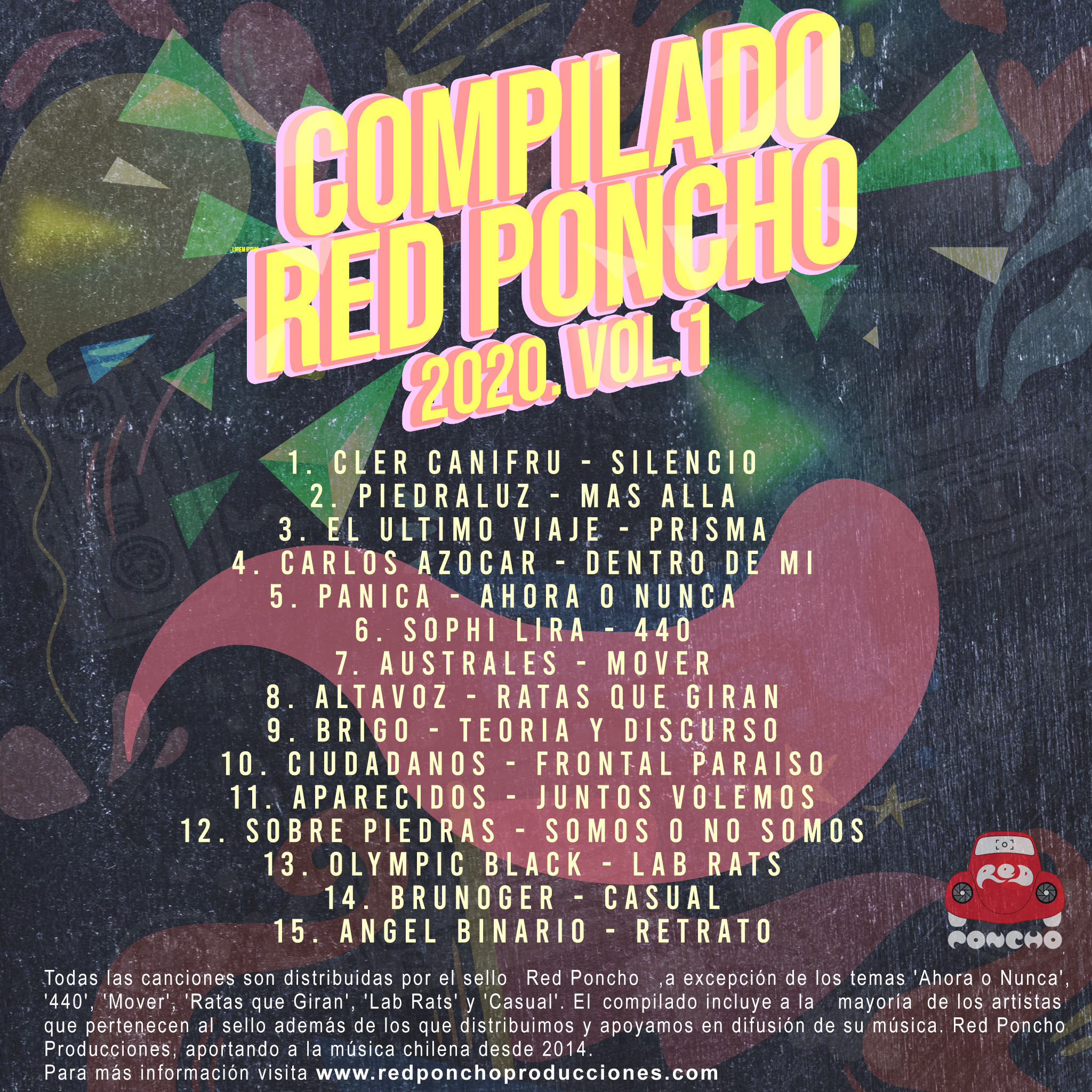 Sello Red Poncho lanza disco compilado de artistas 2020