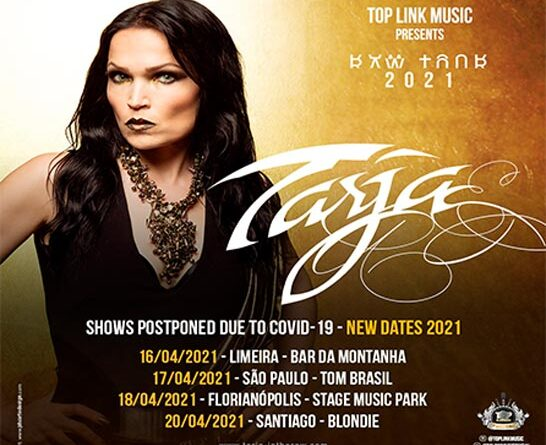 Tarja Turunen: shows en América Latina pospuestos para 2021