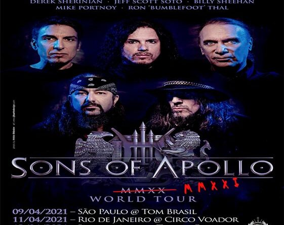 Sons Of Apollo: Gira pospuesta para abril de 2021