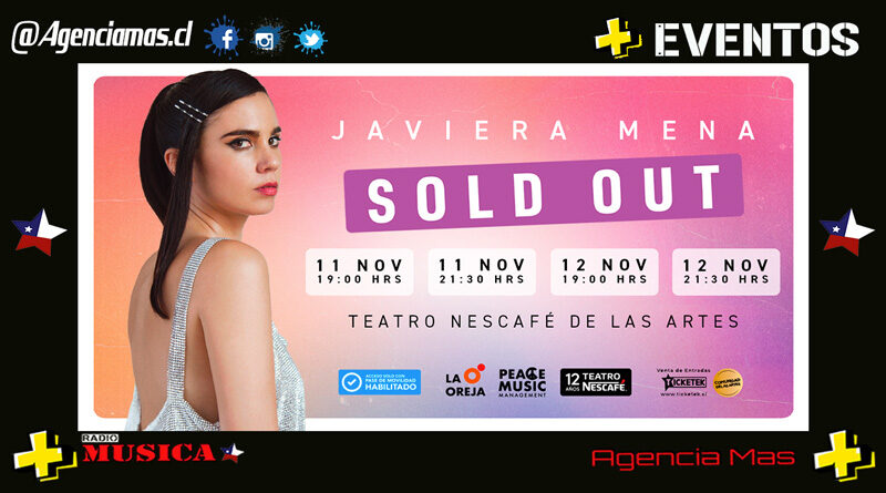 Javiera Mena agota todas las entradas para sus cuatro conciertos